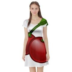Cherries Short Sleeve Skater Dress