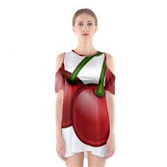 Cherries Shoulder Cutout One Piece