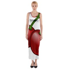 Cherries Fitted Maxi Dress