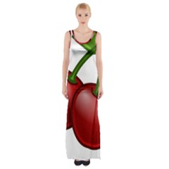 Cherries Maxi Thigh Split Dress
