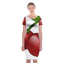 Cherries Classic Short Sleeve Midi Dress