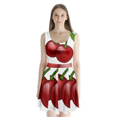 Cherries Split Back Mini Dress