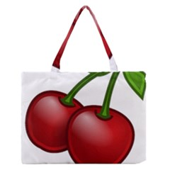 Cherries Medium Zipper Tote Bag