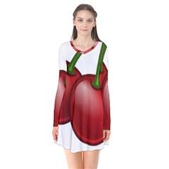 Cherries Flare Dress