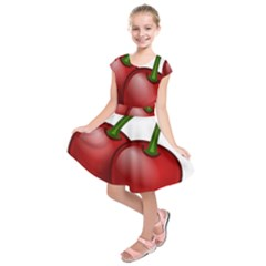 Cherries Kids  Short Sleeve Dress