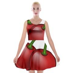 Cherries Velvet Skater Dress
