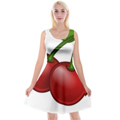 Cherries Reversible Velvet Sleeveless Dress