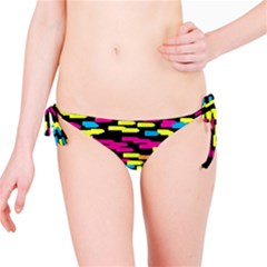 Colorful strokes on a black background             Bikini Bottom
