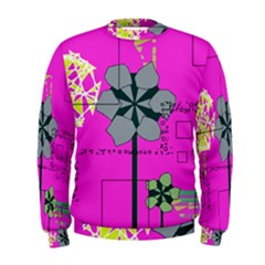 Flowers and squares               Men s Sweatshirt