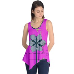 Flowers and squares              Sleeveless Tunic