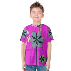 Flowers and squares              Kid s Cotton Tee