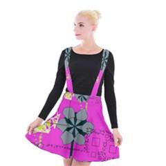 Flowers And Squares           Suspender Skater Skirt