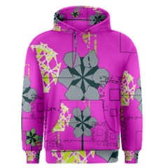 Flowers and squares              Men s Pullover Hoodie