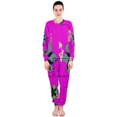 Flowers and squares              OnePiece Jumpsuit (Ladies)
