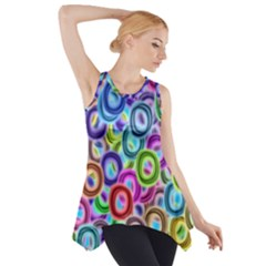Colorful ovals              Side Drop Tank Tunic