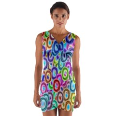 Colorful ovals                 Wrap Front Bodycon Dress