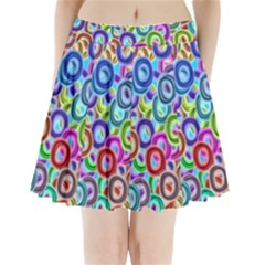 Colorful ovals          Pleated Mini Mesh Skirt