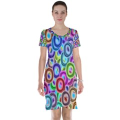 Colorful ovals              Short Sleeve Nightdress