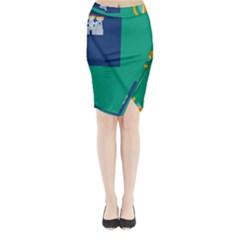 City of Dublin Fag  Midi Wrap Pencil Skirt