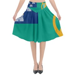 City Of Dublin Flag Flared Midi Skirt
