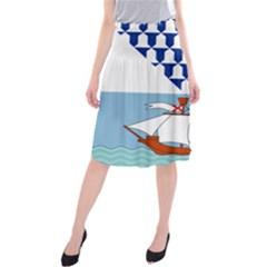 Flag Of Belfast Midi Beach Skirt