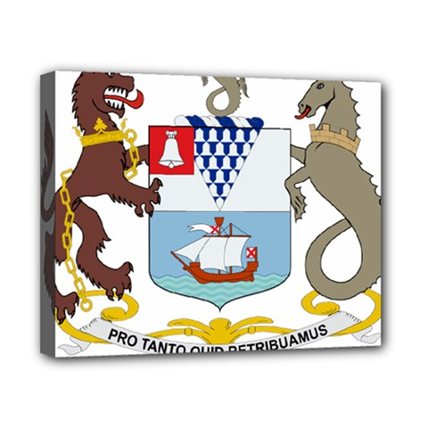 Coat of Arms of Belfast  Canvas 10  x 8