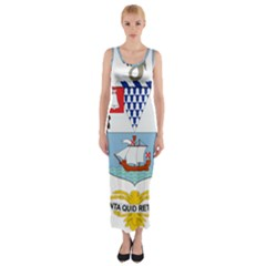 Coat of Arms of Belfast  Fitted Maxi Dress