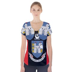 Flag of Drogheda  Short Sleeve Front Detail Top