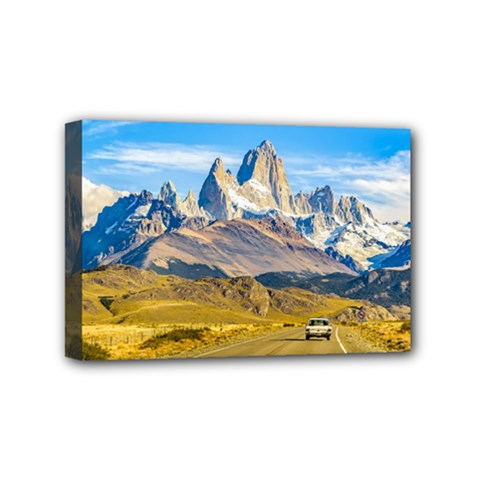 Snowy Andes Mountains, El Chalten, Argentina Mini Canvas 6  x 4