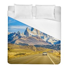Snowy Andes Mountains, El Chalten, Argentina Duvet Cover (Full/ Double Size)