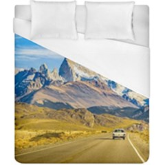 Snowy Andes Mountains, El Chalten, Argentina Duvet Cover (California King Size)