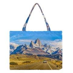 Snowy Andes Mountains, El Chalten, Argentina Medium Tote Bag