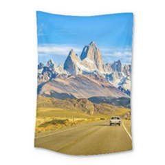 Snowy Andes Mountains, El Chalten, Argentina Small Tapestry