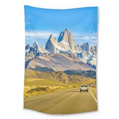 Snowy Andes Mountains, El Chalten, Argentina Large Tapestry