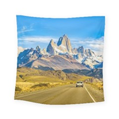 Snowy Andes Mountains, El Chalten, Argentina Square Tapestry (Small)