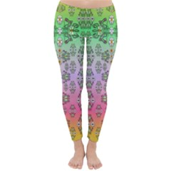 Summer Bloom In Festive Mood Classic Winter Leggings