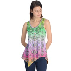 Summer Bloom In Festive Mood Sleeveless Tunic