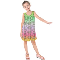 Summer Bloom In Festive Mood Kids  Sleeveless Dress