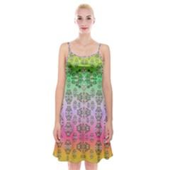 Summer Bloom In Festive Mood Spaghetti Strap Velvet Dress