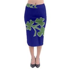 Flag of Ireland Cricket Team  Midi Pencil Skirt