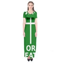 Battle Of Arklow Flag Short Sleeve Maxi Dress