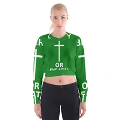 Battle of Arklow Flag Cropped Sweatshirt