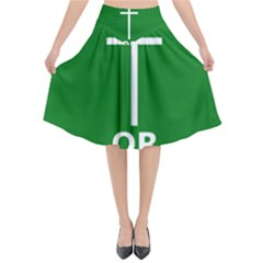 Battle Of Arklow Flag Flared Midi Skirt