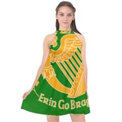 Erin Go Bragh Banner Halter Neckline Chiffon Dress