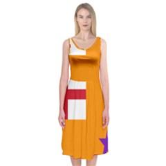 Flag of the Orange Order Midi Sleeveless Dress