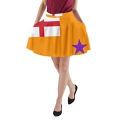 Flag Of The Orange Order A Line Pocket Skirt