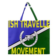 Flag of the Irish Traveller Movement Zipper Large Tote Bag