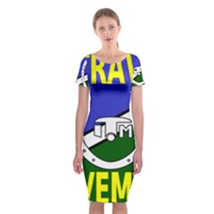 Flag of the Irish Traveller Movement Classic Short Sleeve Midi Dress