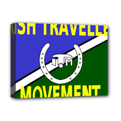 Flag of the Irish Traveller Movement Deluxe Canvas 16  x 12