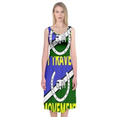 Flag of the Irish Traveller Movement Midi Sleeveless Dress